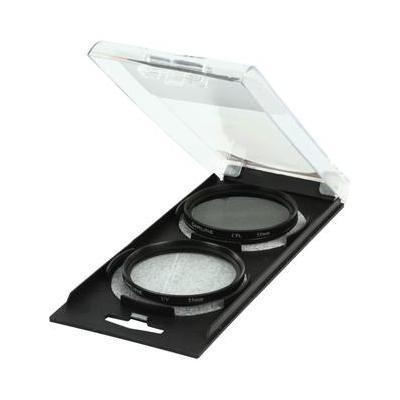 Camlink camera filter: Ultraviolet & Circ-Polarizing Twin Pack, 55mm - Zwart
