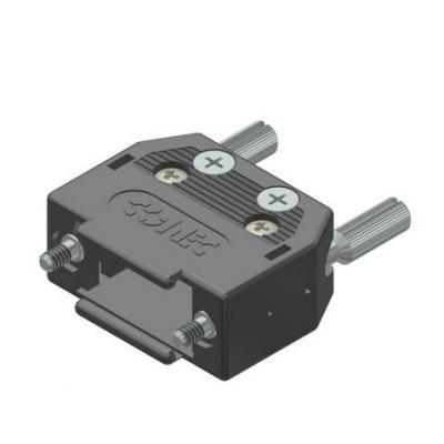 Conec D-SUB-Hood, IP 20 Kabel connector - Zwart