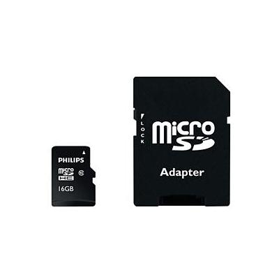 Philips flashgeheugen: Micro SD-kaarten FM16MP45B/10 - Zwart