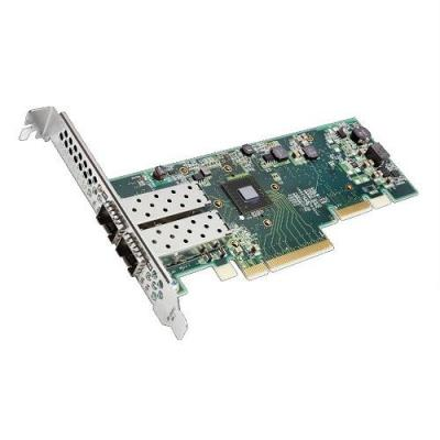Dell netwerkkaart: SolarFlare 8522 OnloadPlus 10 Gigabit Dual Port SFP+ Adapter - Low Profile - Groen