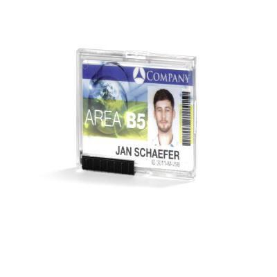 Durable badge: 892019 Card Holder PUSHBOX TRIO (Transparent) Pack of 10 - Transparant