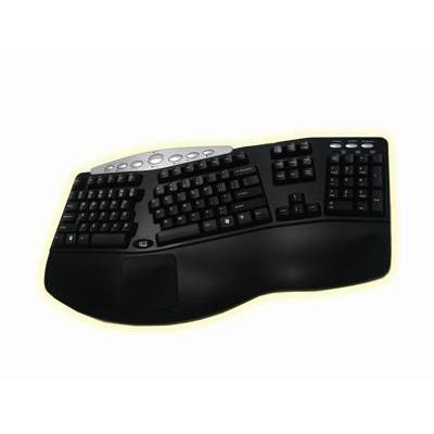 Adesso toetsenbord: Tru-Form™ Media - Contoured Ergonomic Keyboard with Hot Key - Zwart, QWERTY