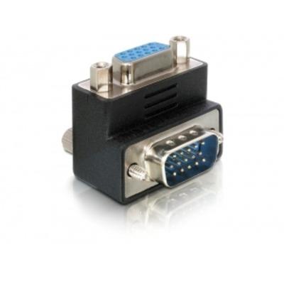 DeLOCK Adapter VGA male/female right angled Kabel adapter - Zwart