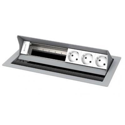 Kindermann 6-fold, 3 x mains Inbouweenheid - Zilver