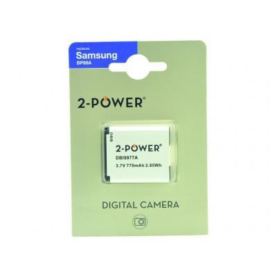 2-Power Digital Camera Battery 3.7v 770mAh - Wit