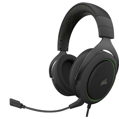 Corsair HS50 PRO STEREO Headset - Zwart, Groen