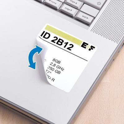 Herma etiket: Removable labels A4 40x40 mm square white Movables/removable paper matt 600 pcs. - Wit