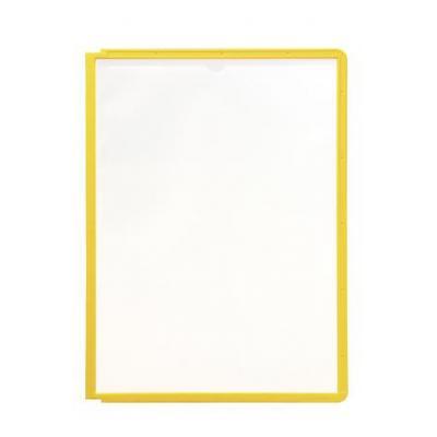 Durable : SHERPA Zichtpanelen met profiellijst voor DIN A4 formaat - Geel