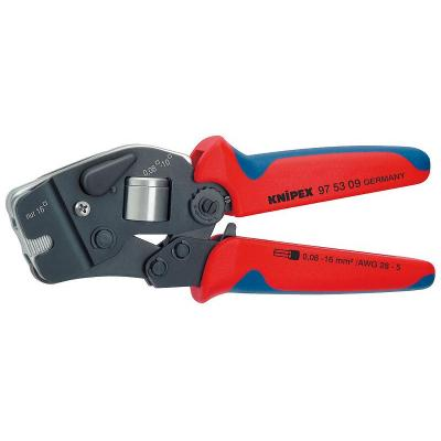 Knipex Self-Adjusting Crimping Pliers f / End Sleeves, Burnished tang