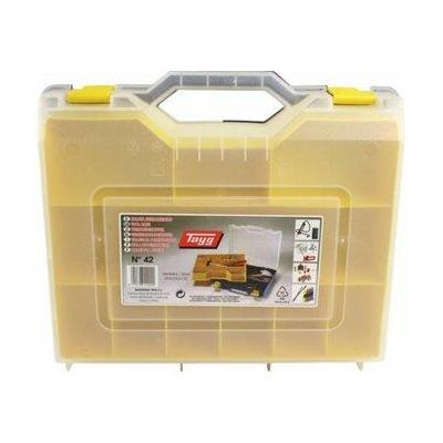 Tayg Case f/ Manual Tools, PP, Base Green, Cover Transparent, Tray Yellow - Groen, Transparant, Geel