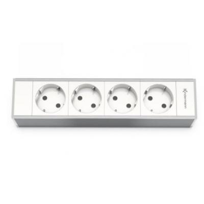 Kindermann Modul Panel for 4 Plates, 4x mains Inbouweenheid - Wit
