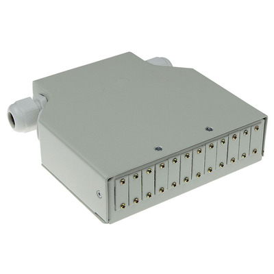 ACT DIN rail fiber optic terminal box unloaded, 12 poorts Patch panel - Ivoor
