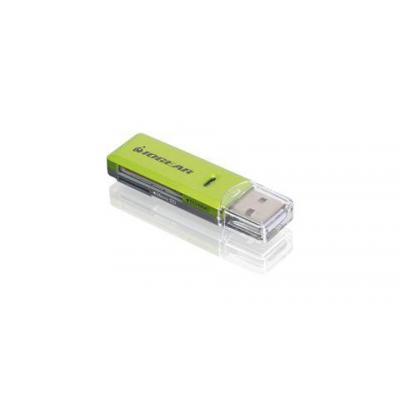 Iogear SD/MicroSD/MMC Card Reader/ Writer, USB 2.0 Geheugenkaartlezer - Groen