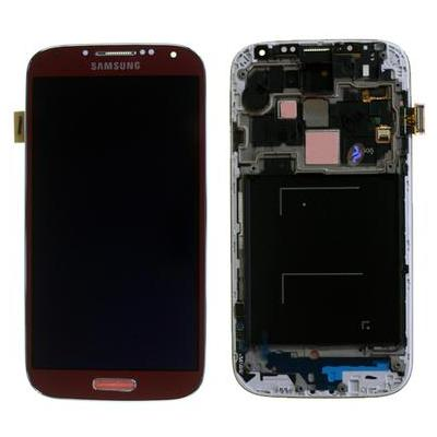 Samsung mobile phone spare part: GT-I9505 Galaxy S4 Complete Front+LCD+Touchscreen, red