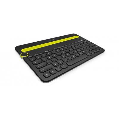 Logitech mobile device keyboard: K480 - Zwart, Geel, QWERTY