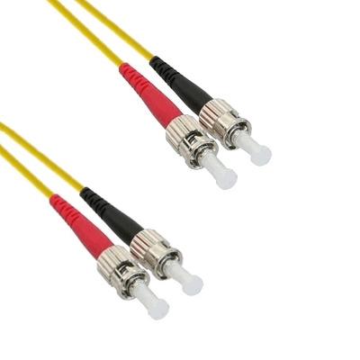 EECONN Glasvezel Patchkabel, 9/125 (OS1), ST - ST, Duplex, 3m Fiber optic kabel - Geel