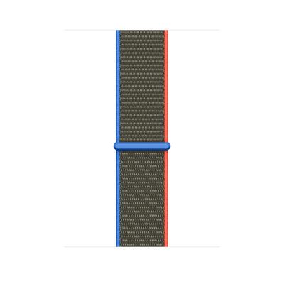 Apple Geweven sportbandje - Olijfgroen (44 mm)