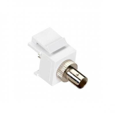 Black Box GigaStation2 Snap Fitting, ST Adapter, Female/Female, White Fiber optic adapter - Wit