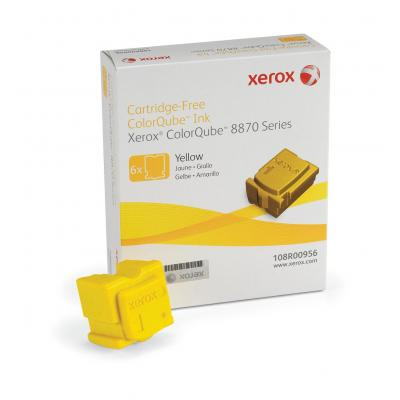 Xerox inkt stick: ColorQube 8870 inkt, geel (6 sticks 17300 Images) voor ColorQube 8870