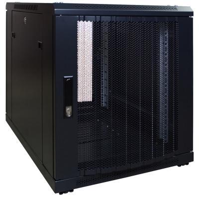 DS-IT 12U mini serverkast met geperforeerde deur 600x800x635mm (BxDxH) Stellingen/racks