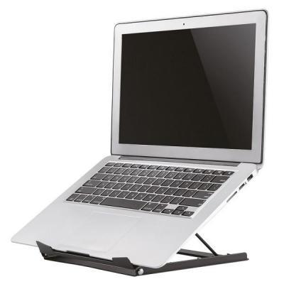 Newstar notebooksteun: Tilted Laptop Stand - Black - Zwart