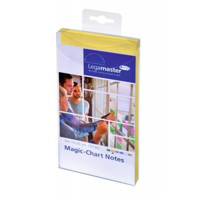 Legamaster Magic-Chart notes 10 x 20 cm yellow 100 pcs Zelfklevend notitiepapier - Geel