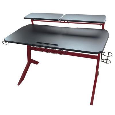 LC-Power 130 x 70 cm, metal, MDF, black, red Bureau - Zwart, Rood