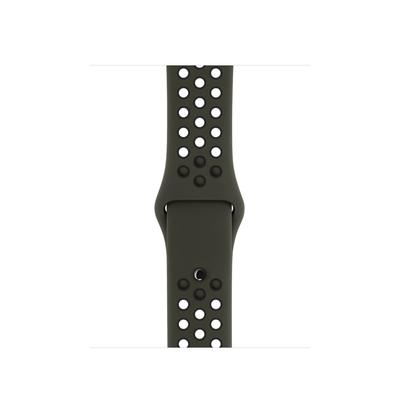 Apple : Sportbandje van Nike – Cargo Khaki/zwart (38 mm) – S/M en M/L - Zwart, Khaki
