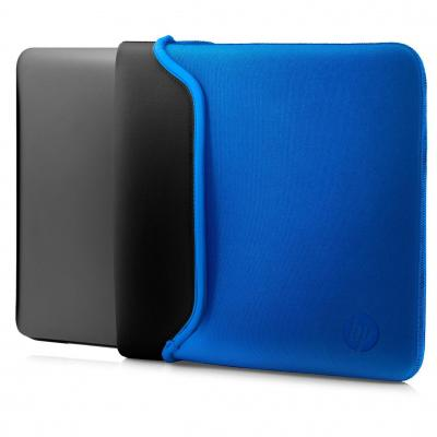 "Hp laptoptas: 13.3"" Neoprene Sleeve Black/Blue - Zwart, Blauw"