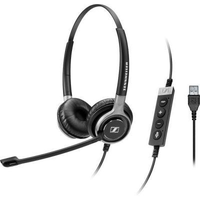 Sennheiser SC 660 USB ML Headset - Zwart, Zilver