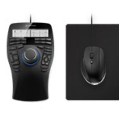 3dconnexion computermuis: SpaceMouse Enterprise Kit - Zwart