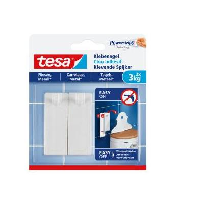 TESA 2 x, 3 x strip, 3 kg Hook - Wit