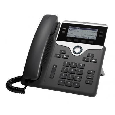 Cisco IP telefoon: 7841 - Zwart, Zilver (Refurbished LG)