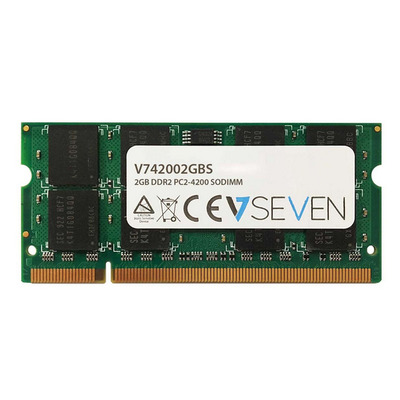 V7 2GB DDR2 PC2-4200 - 533Mhz, CL5 RAM-geheugen - Groen