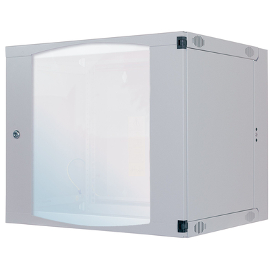 "Intellinet 19"" Double Section Wallmount Cabinet, 6U, 450mm depth, Flatpack, Grey Rack - Grijs"