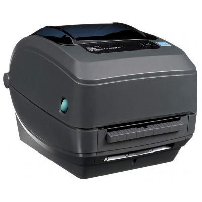 Zebra GX430t TT - USB - Ethernet - Afpelsysteem Labelprinter - Grijs