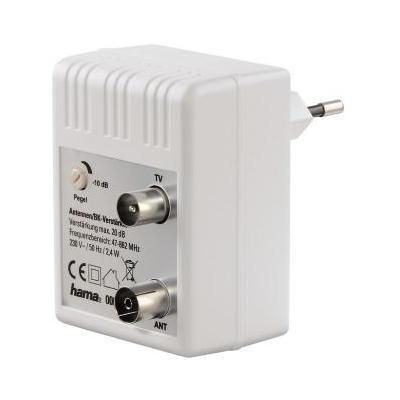 Hama Antenna/CATV Amplifier, 20 dB, adjustable Signaalversterker TV - Wit