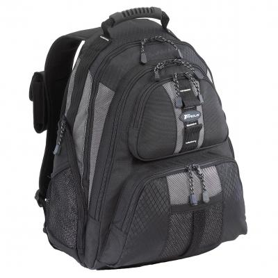 Targus rugzak: 15.4 - 16 inch / 39.1 - 40.6cm Sport Laptop Backpack - Zwart, Zilver