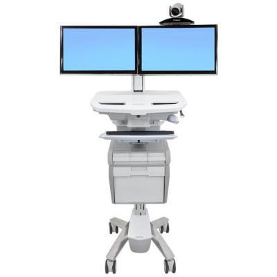 "Ergotron multimedia kar & stand: 60.96 cm (24 "") max, 20 kg max, 20 cm, 13.2 kg - Wit"