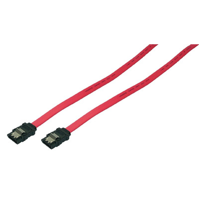 LogiLink SATA 0.75m ATA kabel - Rood