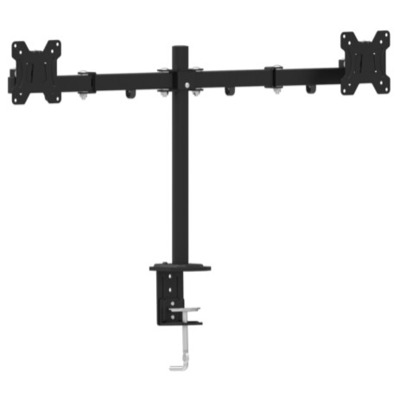 "Gembird Adjustable desk 2-display mounting arm (tilting), 13""-27"", up to 7 kg Monitorarm - Zwart"