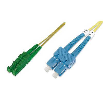ASSMANN Electronic E2000-SC, 1m Fiber optic kabel - Groen,Geel