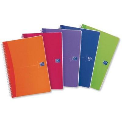 Elba schrijfblok: OXFORD Office MyColours spiraalblok A5, geruit 5 mm (verpakking 5 stuks)