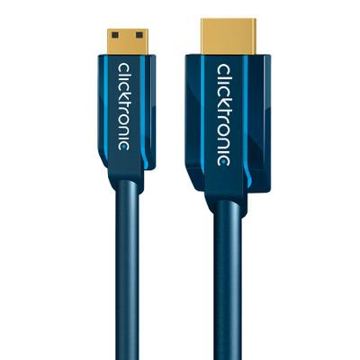 ClickTronic 3m Mini-HDMI Adapter HDMI kabel - Blauw