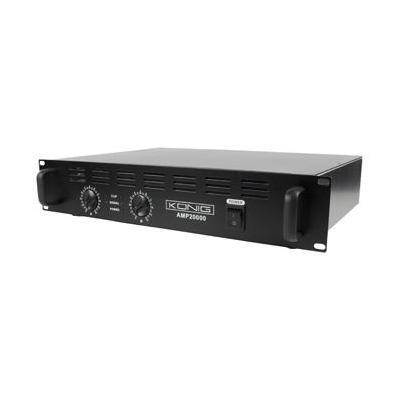 König audio versterker: 2 x 1000W, 95dB(A), Zwart