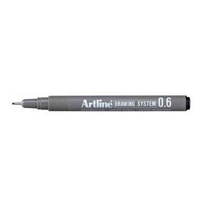 Artline viltstift: FINELINER 0,6MM ZWART