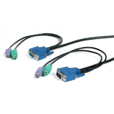 Newstar KVM Switch kabel, PS/2 KVM kabel - Zwart
