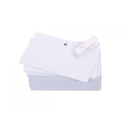 Evolis lege plastic kaart: Pre-punched PVC cards, 100pcs - Wit