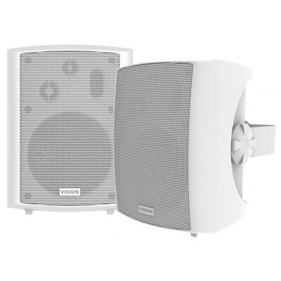 Vision Speaker: SP-1800 SET 3-WEG MUURLUIDSPREKERS, 8 ohm, 89 dB, 80Hz-20kHz - Wit