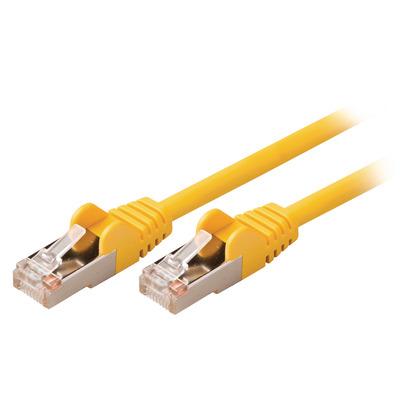 Valueline CAT5e SF/UTP, RJ45 (8P8C) Male - RJ45 (8P8C) Male, 0.5m, Yellow Netwerkkabel - Geel